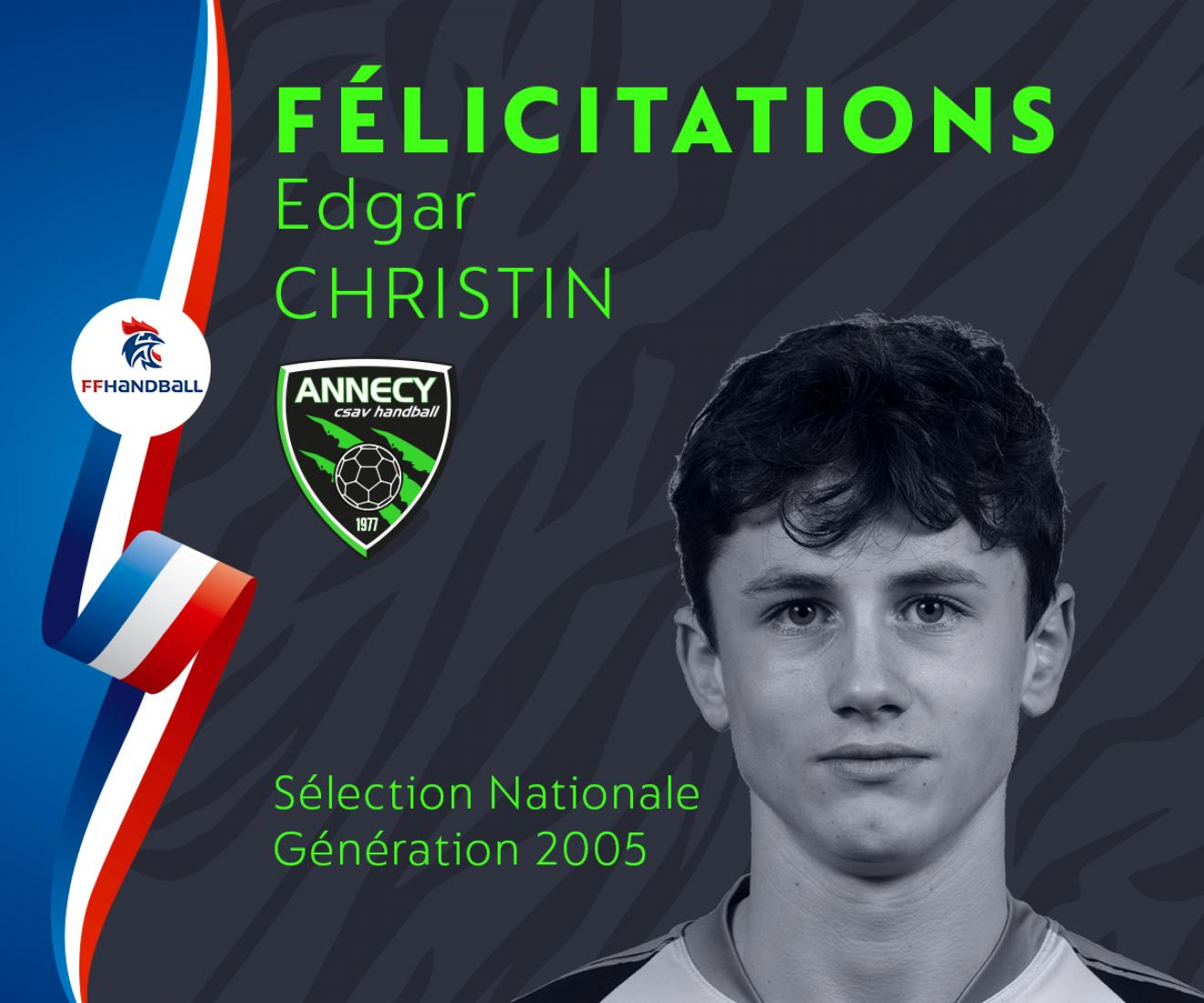 Sélection Nationale - Edgar Christin